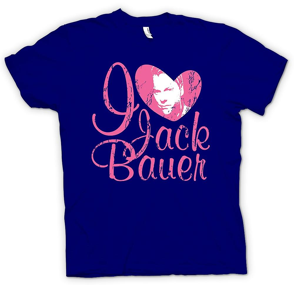 Mens T-shirt - I Love Jack Bauer 24 - Keifer - Tv - Movie