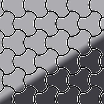 Mosaico de metal sólido Acero inoxidable ALLOY Ubiquity-S-S-MM