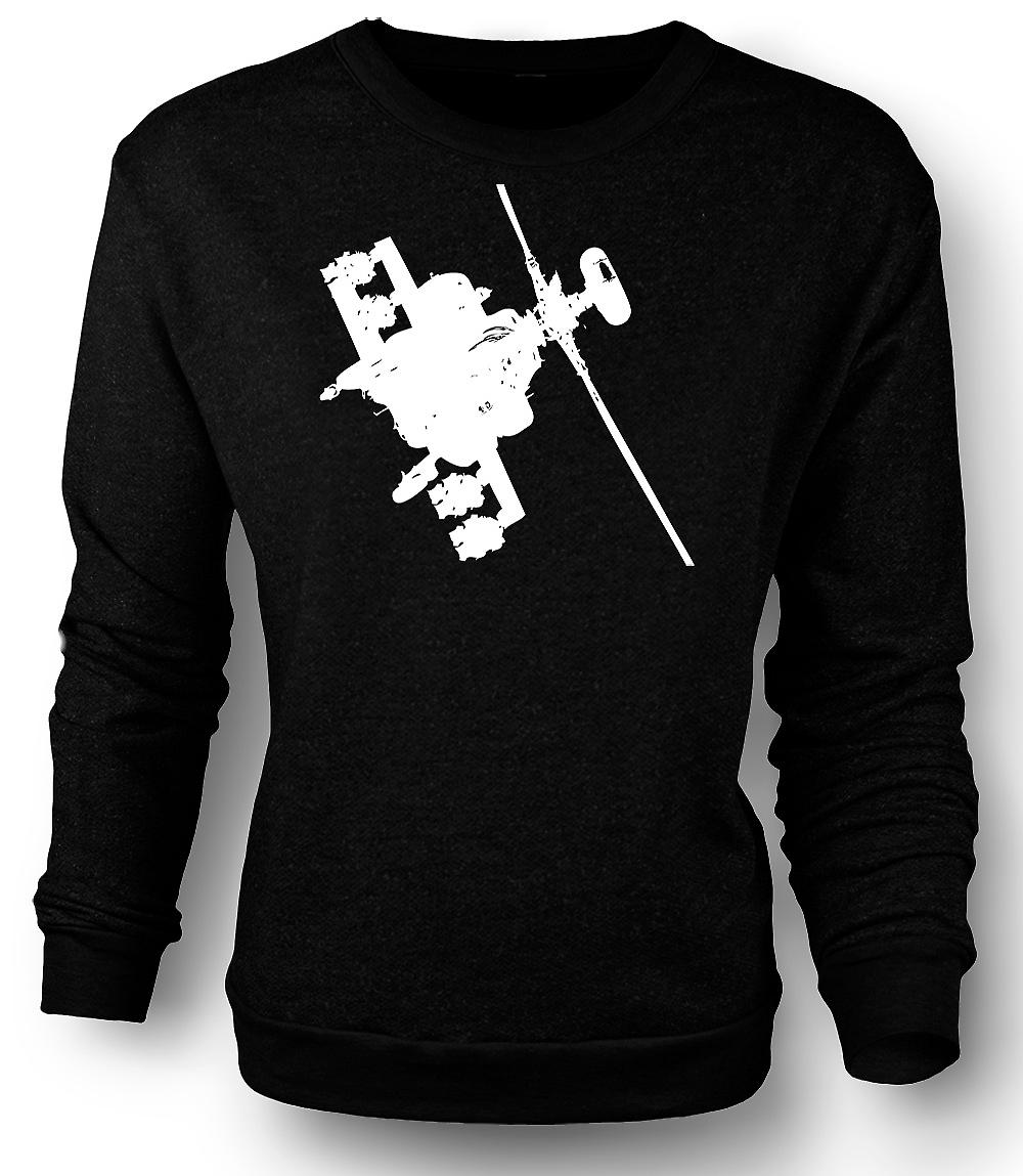 Mens Sweatshirt Apache Helicopter Flying - War