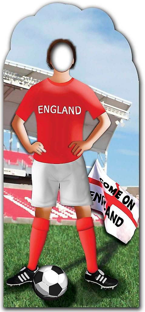 England Footballer Stand In - Football / Soccer World Cup - Lifesize Cardboard Cutout / Standee