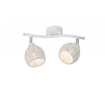 Lucide Tahar Vintage Round Metal White Ceiling Spot Light