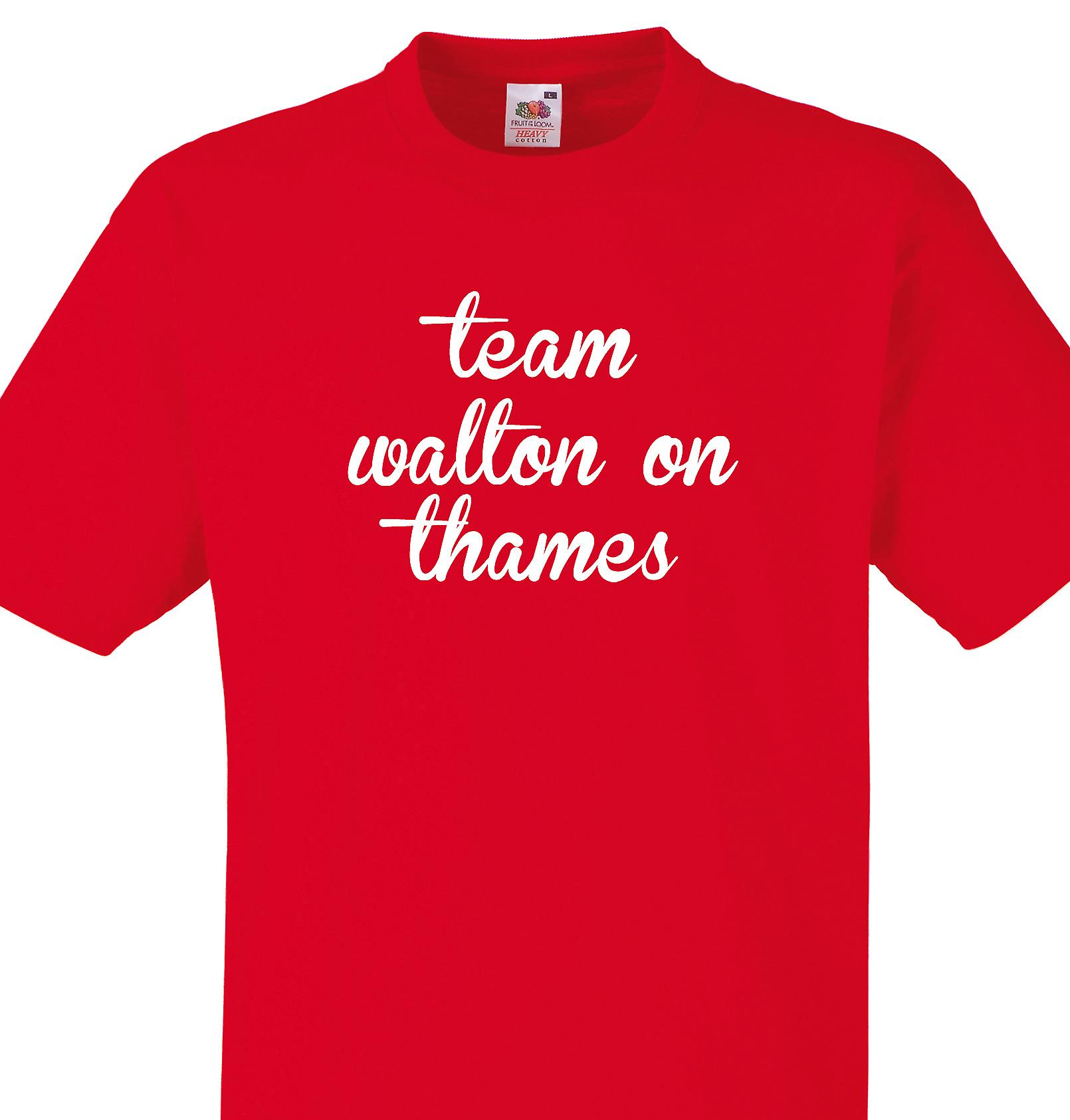 Team Walton on thames Red T shirt