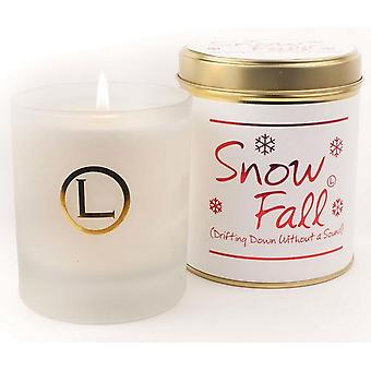 Lily Flame Scented Glassware Candle - Snow Fall
