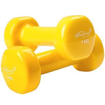 2 haltères vinyle Fitness poids 2 x 1 kg sport fitness musculation 0701075