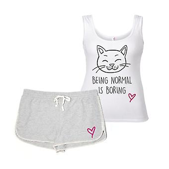 猫が通常は退屈なパジャマ セット