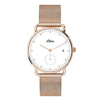 s.Oliver women's watch wristwatch stainless steel SO-3715-MQ