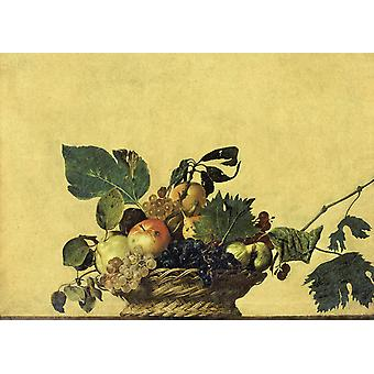 Basket of Fruit, Caravaggio, 40x60cm with tray