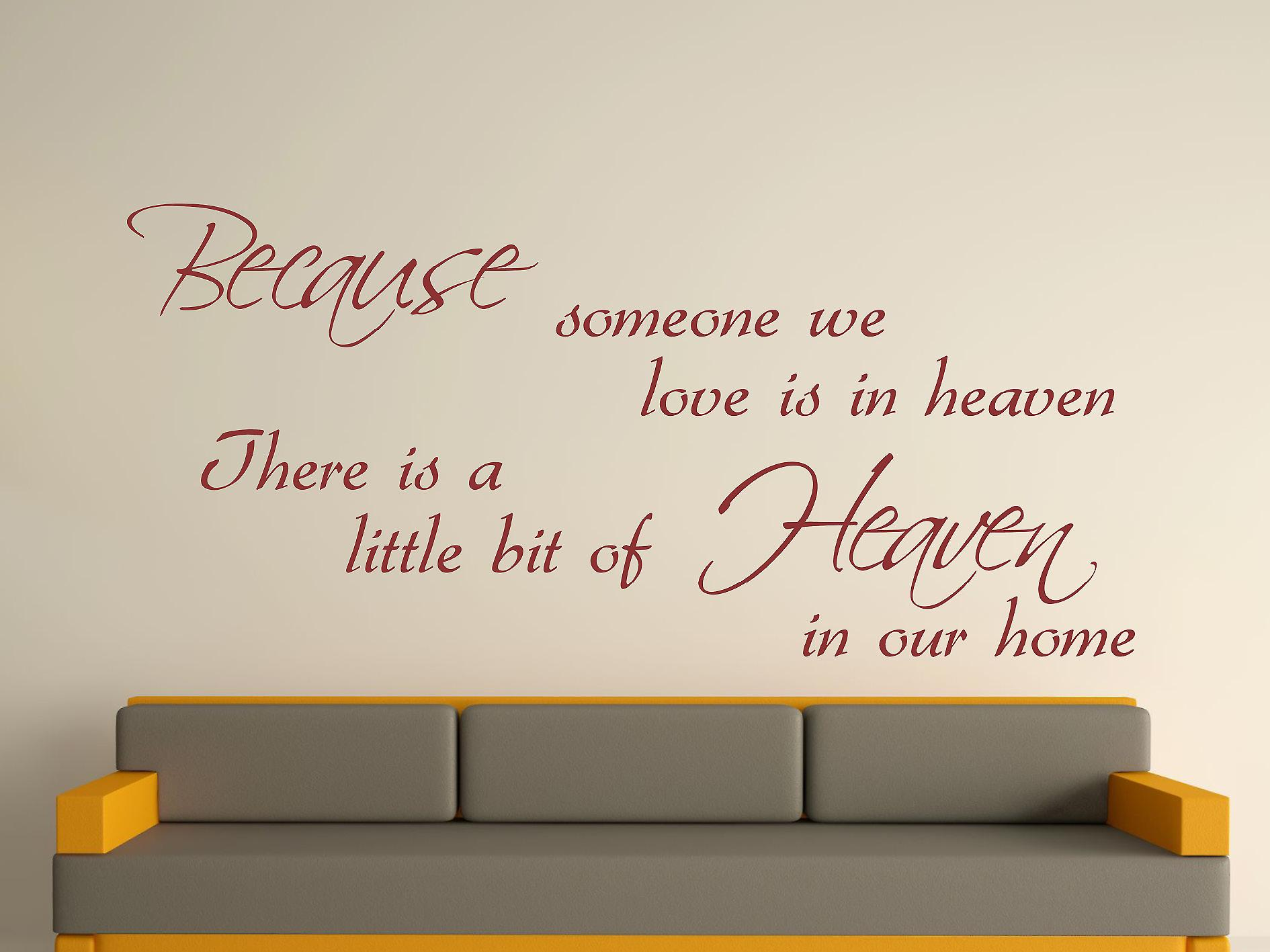 Because Someone Wall Art Sticker - Burgundy