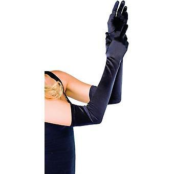 手袋サテン長黒