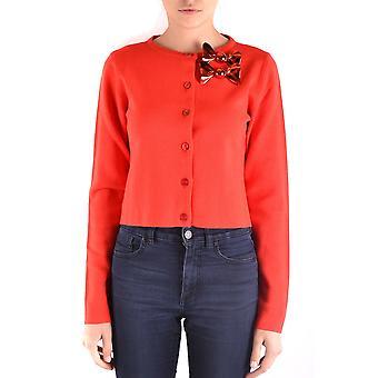 Cardigan de lana rojo Moschino