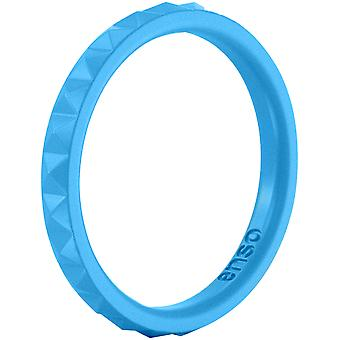 Enso Rings Pyramid Stackables Series Silicone Ring - Azure Blue