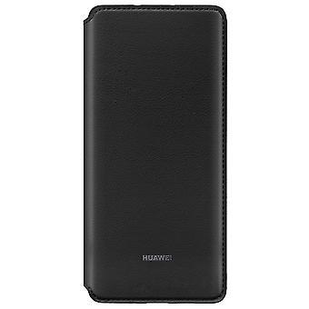 Wallet Cover Schwarz für Huawei P30 Pro Original Case Cover Tasche Etui Schale 51992866