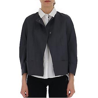 New York Industrie Grey Nylon Outerwear Jacket