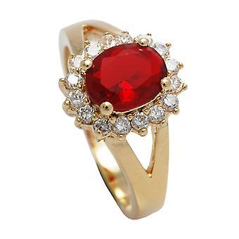 Ah! Smycken 18kt äkta guld fyllda Ring