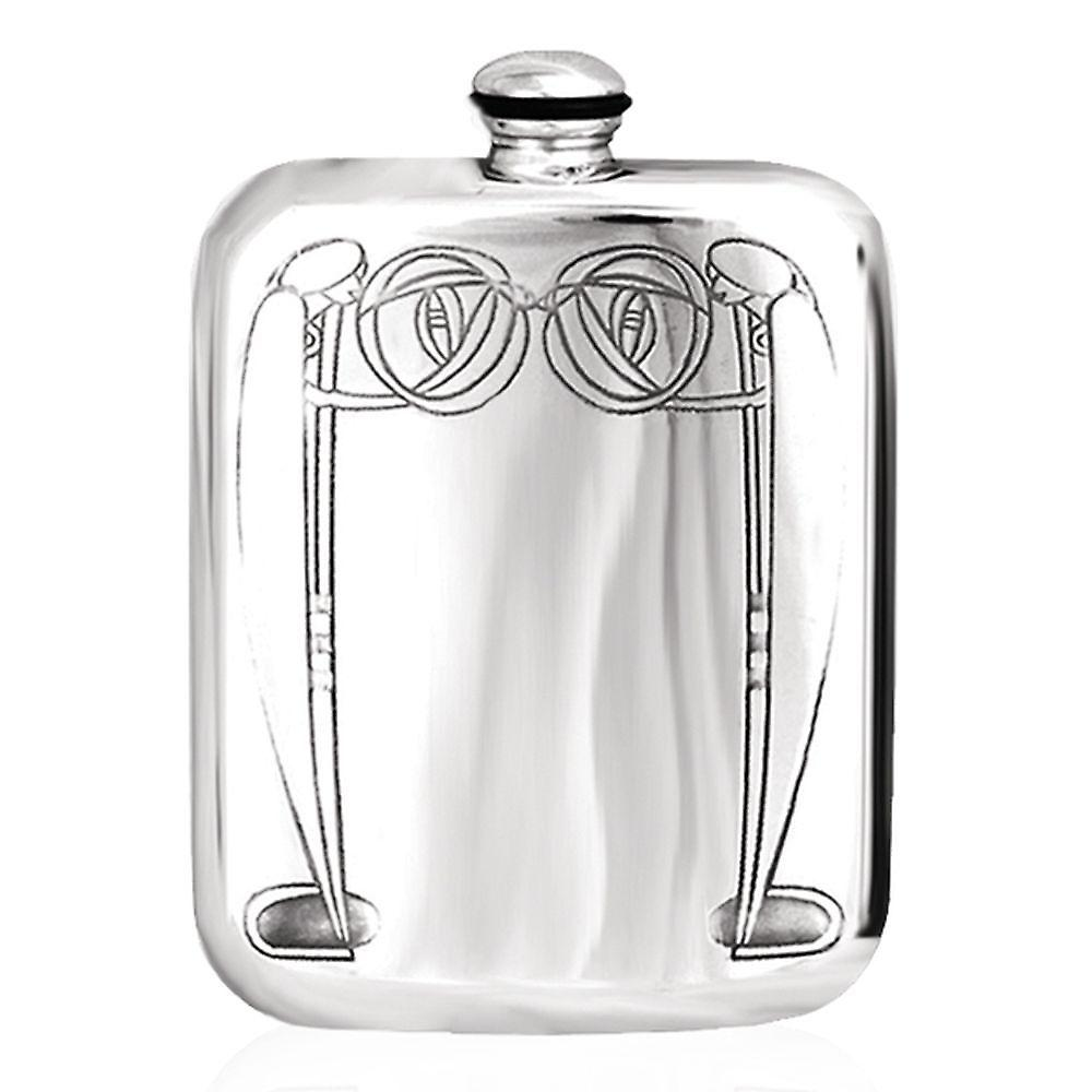 6oz Mackintosh Stamped Flask Pewter - Crm334