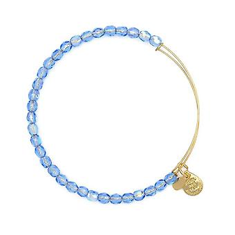 Alex en Ani Sky Rock Candy kralen goud Bangle BBEB176G
