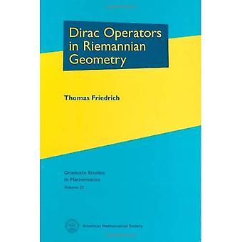 Opérateurs de Dirac en géométrie riemannienne