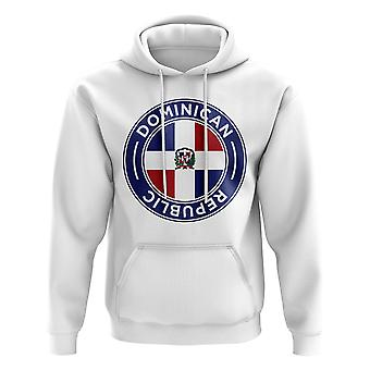 Dominican Republic Football Badge Hoodie (White)