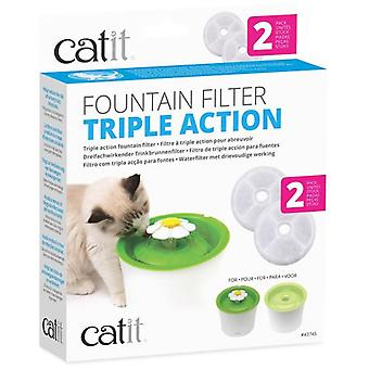 Catit Triple Action Filter  5 Pack (Cats , Bowls, Dispensers & Containers , Bowls)