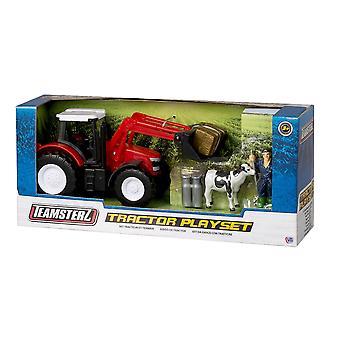 Teamsterz Tractor Playset - Rojo