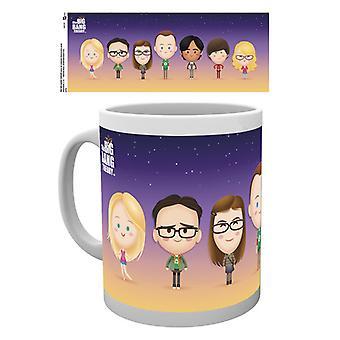 I personaggi di Big Bang Theory Boxed Mug bevente