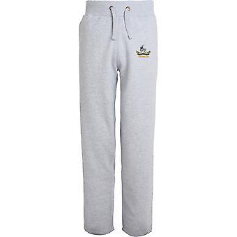 Royal Warwickshire Regiment Veteran - Licensed British Army Embroidered Open Hem Sweatpants / Jogging Bottoms
