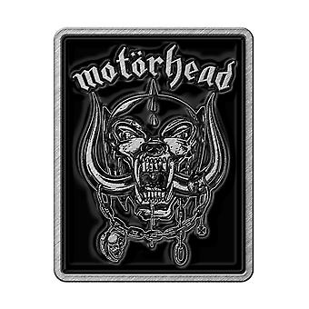 Motorhead Logo / Warpig rectangular Pin Badge 30mm x 25mm (rz)