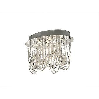 Diyas Camilla Ceiling Oval 7 Light Polished Chrome/Crystal