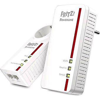 Avm fritz powerline 1260and kit 2 powerline (1260and + 1220e)/1200 mbit/s/1 x gigabit ethernet interfaces