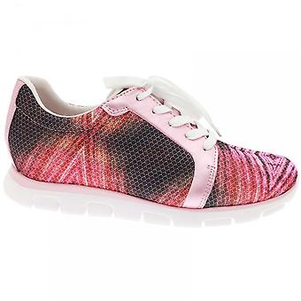 Gabor Venice Women's Patterend Laceup Trainer Pink