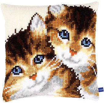 Kittens Cushion Cross Stitch Kit-15.75