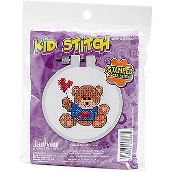 Couture enfant ours & ballon estampillé Stitch Kit-3