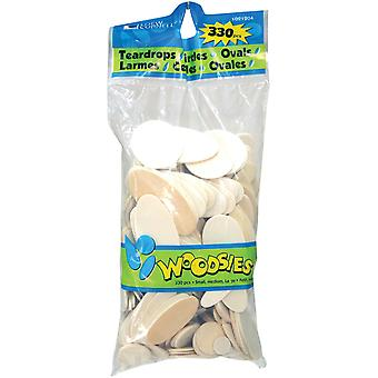 Woodsies Variety Pack 330 Pkg Teardrops Circles Ovals 1021204