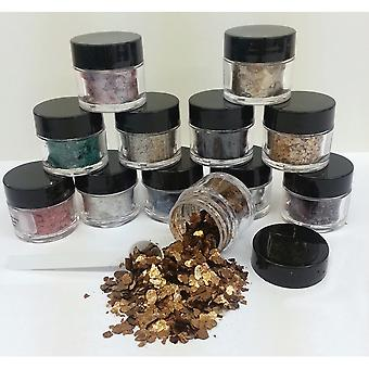 Mica Flake Collection 3G 12 Pkg Pfx750
