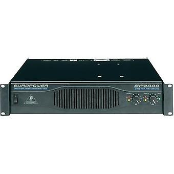 PA amplifier Behringer EP2000 RMS power per channel (at 4 Ohm): 500 W