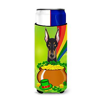 Doberman St. Patrick's Day Michelob Ultra Koozies for slim cans BB1989MUK