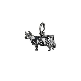 Silver 11x16mm Cow Pendant or Charm