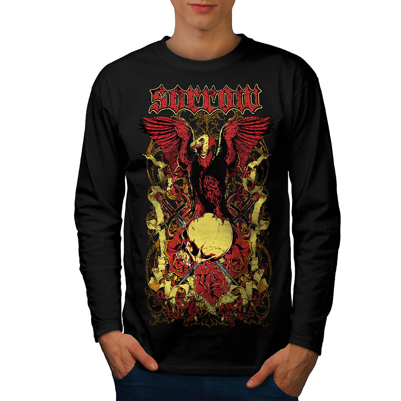 Sorror Death Ground Grave Yard Men Black Long Sleeve T-shirt | Wellcoda