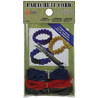 Parachute Cord Action Pack-Red, White & Black SV1616