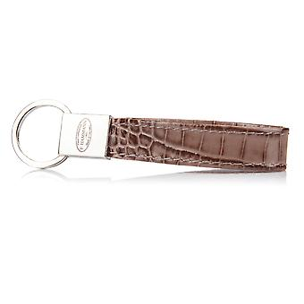 F.HAMMANN Keychain Nimbus Croco leather stainless steel