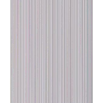 Uni wallpaper EDEM 598-20 structured embossed wallpaper with stripes and metallic accents light grey Silver 5.33 m2