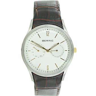 Bering mens watch wristwatch slim classic - 11839-501 leather