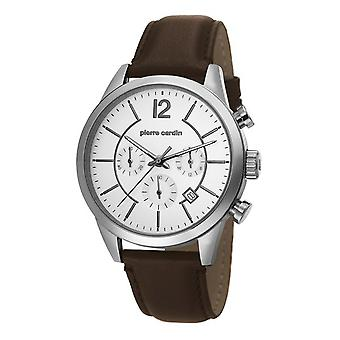 Pierre Cardin mens watch watch Chrono TROCA leather PC106591F02