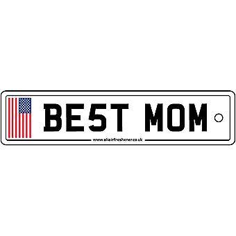 USA - Best Mom License Plate Car Air Freshener