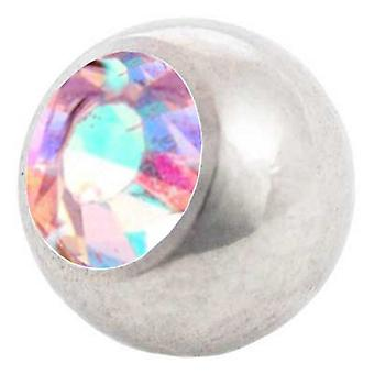 Piercing Replacement Ball, Aurora Borealis | 1,2 x 3 and 4 mm, Body Jewellery