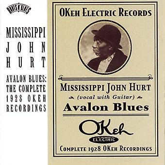 Mississippi John Hurt - Avalon Blues-Complete 1928 Re [CD] USA import
