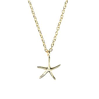 Latelita 925 Sterling Silver Pendant Star Starfish Fish Necklace Rose Gold