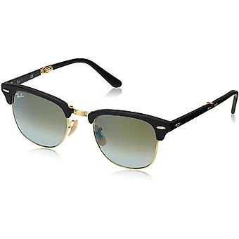 Ray-Ban Clubmaster Folding Sunglasses Black Matte/Green Acetate - RB2176-901S9J-51