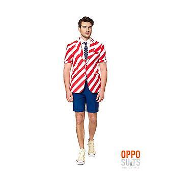 Opposuit Summersuit United stripes USA summer suit slimline 3-piece EU SIZES