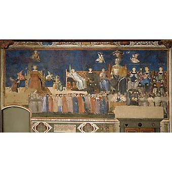 Ambrogio Lorenzetti - Allegory of Good Government Poster Print Giclee